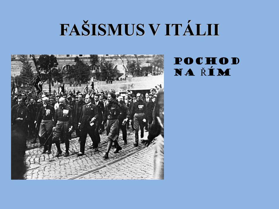 FAŠISMUS V ITÁLII Pochod na Ř ím