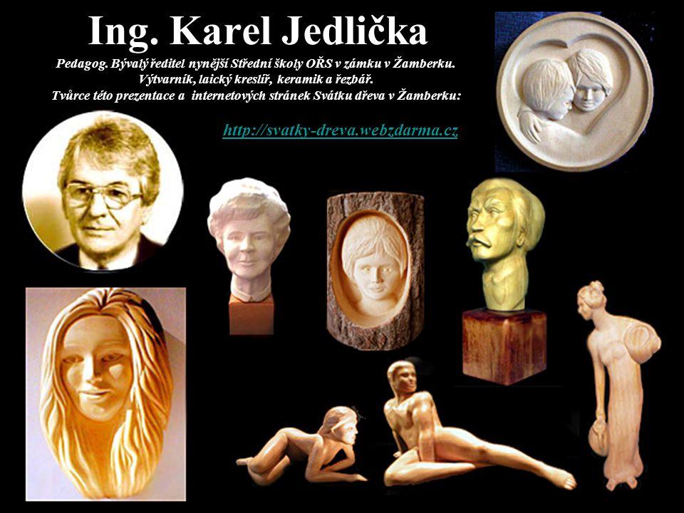 Ing. Karel Jedlička Pedagog. Bývalý ředitel nynější Střední školy OŘS v zámku v Žamberku. Výtvarník, laický kreslíř, keramik a řezbář. Tvůrce této pre