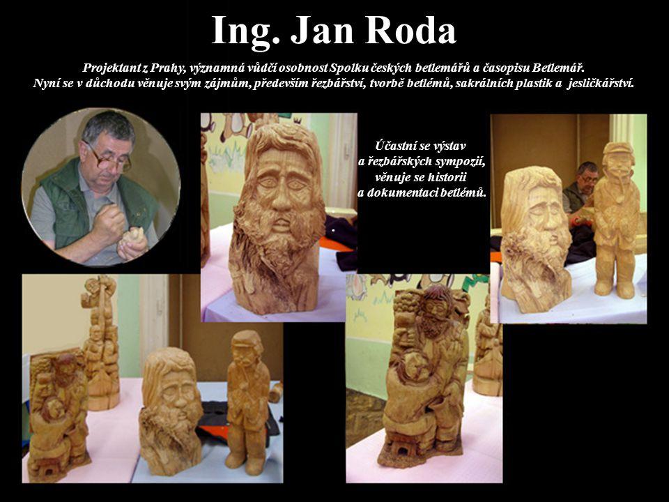 Pan Jan Vokoun Významný řezbář, betlemář a loutkář z Třebechovic pod Orebem.