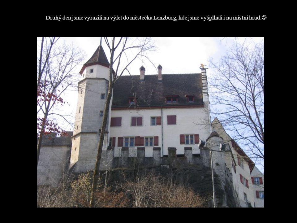 Druhý den jsme vyrazili na výlet do městečka Lenzburg, kde jsme vyšplhali i na místní hrad.