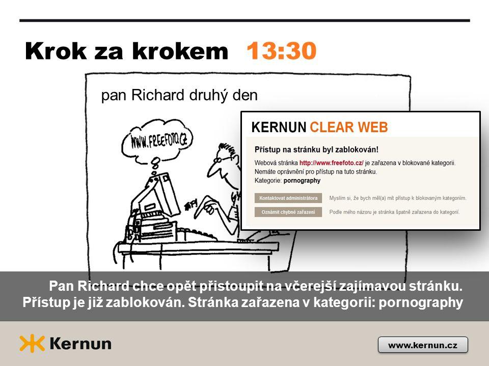 Krok za krokem www.kernun.cz 13:30 pan Richard druhý den Pan Richard chce opět přistoupit na včerejší zajímavou stránku.
