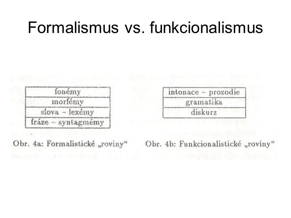 Formalismus vs. funkcionalismus