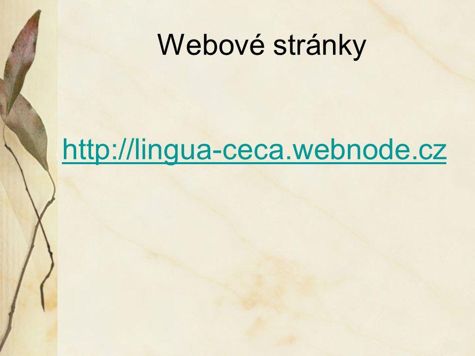 Webové stránky http://lingua-ceca.webnode.cz
