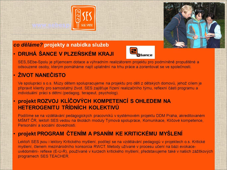"""www.sebespolu.net stálá nabídka programů a kurzů SES CLASS-IK 3-6 denní kurz pro školní třídy, případně sportovní týmy a jiné """"stálé skupiny."""