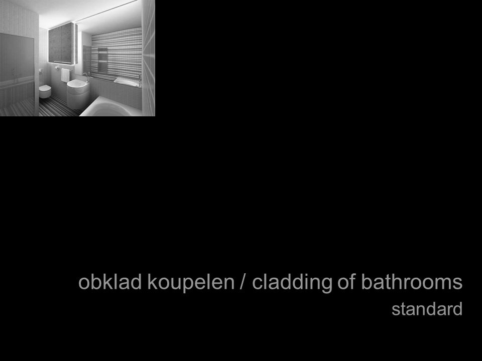 obklad koupelen / cladding of bathrooms standard