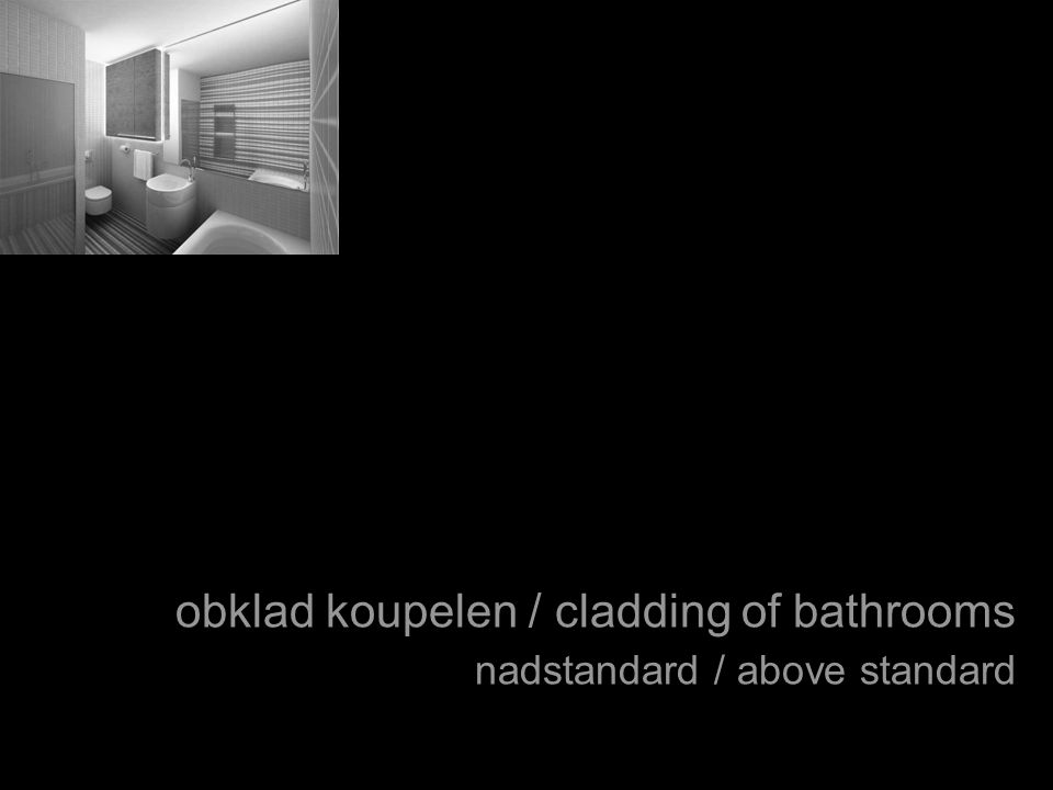 obklad koupelen / cladding of bathrooms nadstandard / above standard