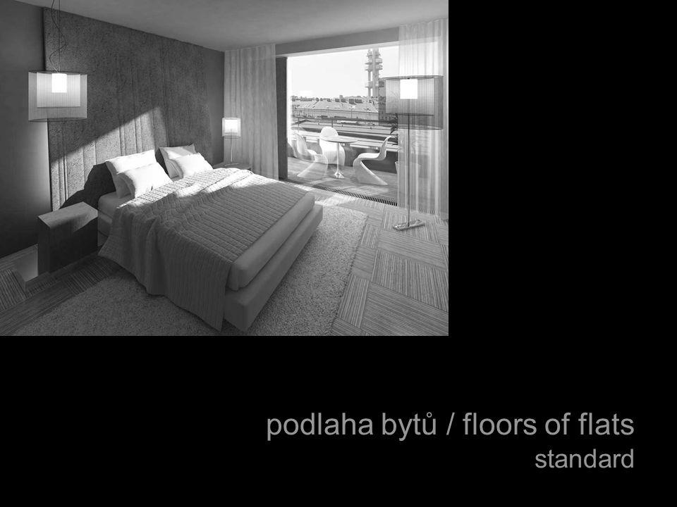 podlaha bytů / floors of flats standard