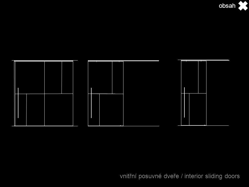 obsah vnitřní posuvné dveře / interior sliding doors