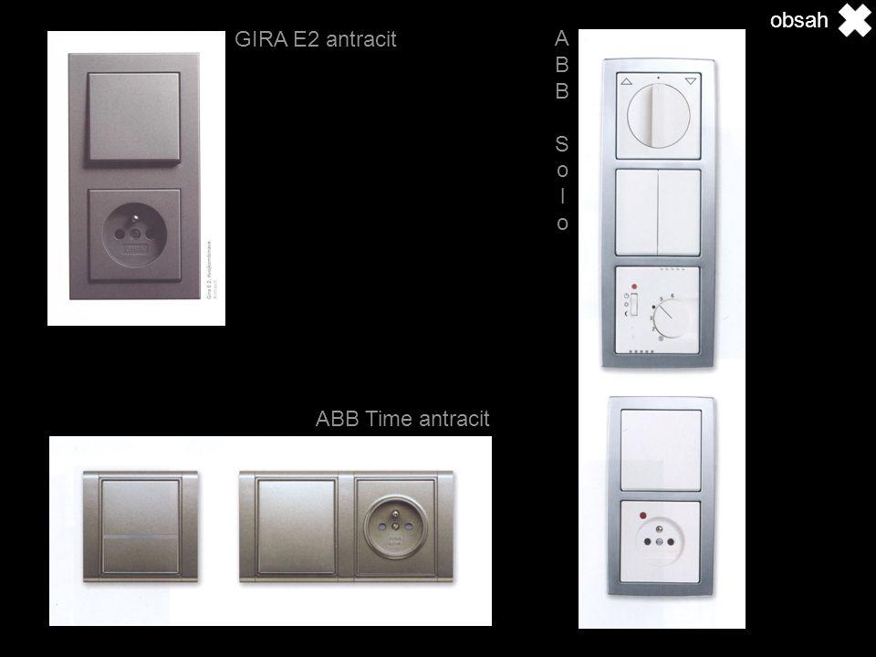 GIRA E2 antracit ABB Time antracit ABB Solo ABB Solo obsah