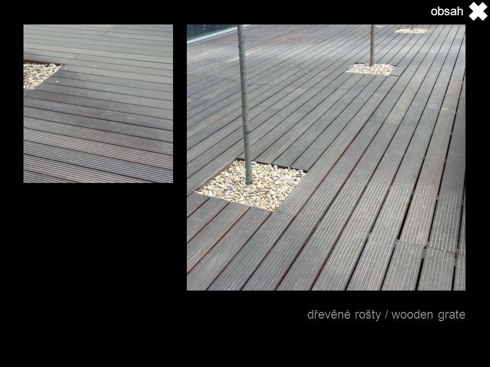 dřevěné rošty / wooden grate obsah