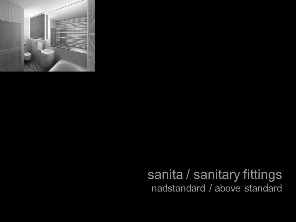 sanita / sanitary fittings nadstandard / above standard