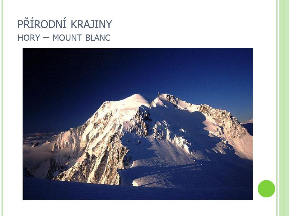 PŘÍRODNÍ KRAJINY HORY – MOUNT BLANC