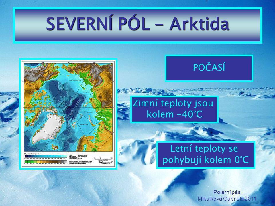 Polární pás Mikulková Gabriela 2011 DEN A NOC NA PÓLU Polární den – přibližně půl roku je Slunce nad obzorem Polární noc – přibližně půl roku je Slunce pod obzorem