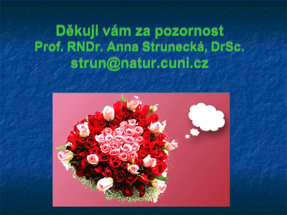 Děkuji vám za pozornost Prof. RNDr. Anna Strunecká, DrSc. strun@natur.cuni.cz