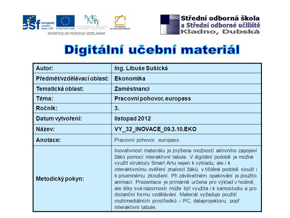 5) Jaké dokumenty obsahuje Europass.
