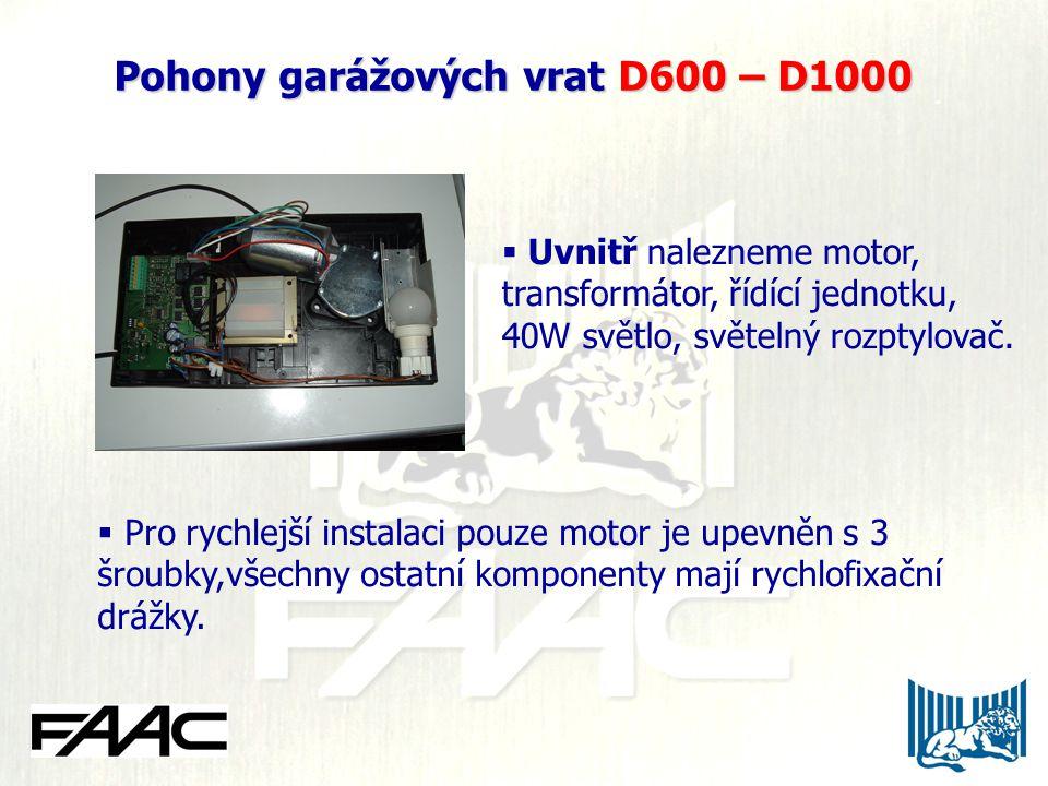  Uvnitř nalezneme motor, transformátor, řídící jednotku, 40W světlo, světelný rozptylovač.