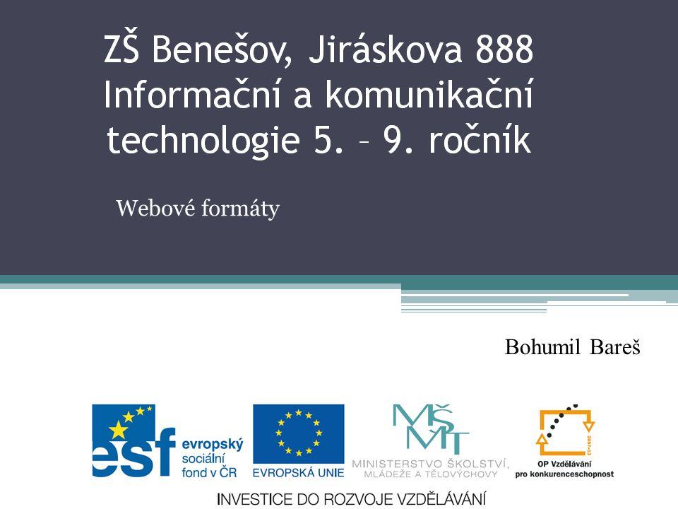 Webové formáty Bohumil Bareš