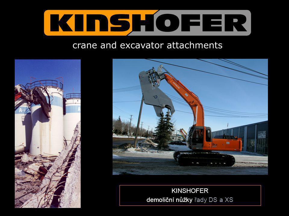 KINSHOFER demoliční nůžky řady DS a XS