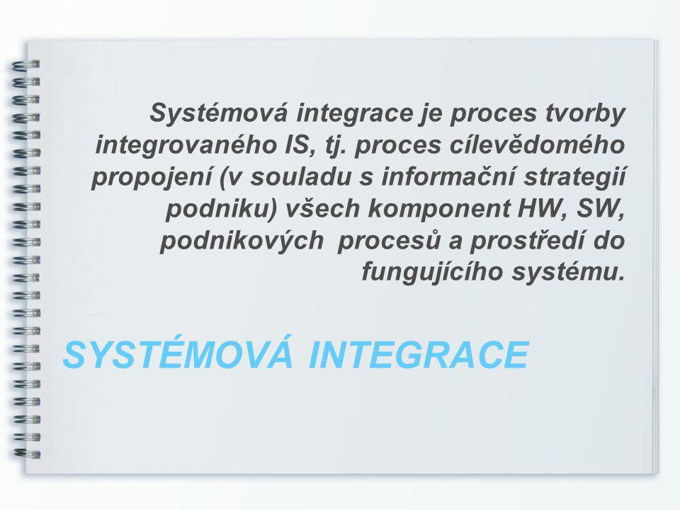 INTEGROVANÝ INFORMAČNÍ SYSTÉM Integrovaný informační systém poskytuje informace všem úrovním řízení v potřebném rozsahu a čase.