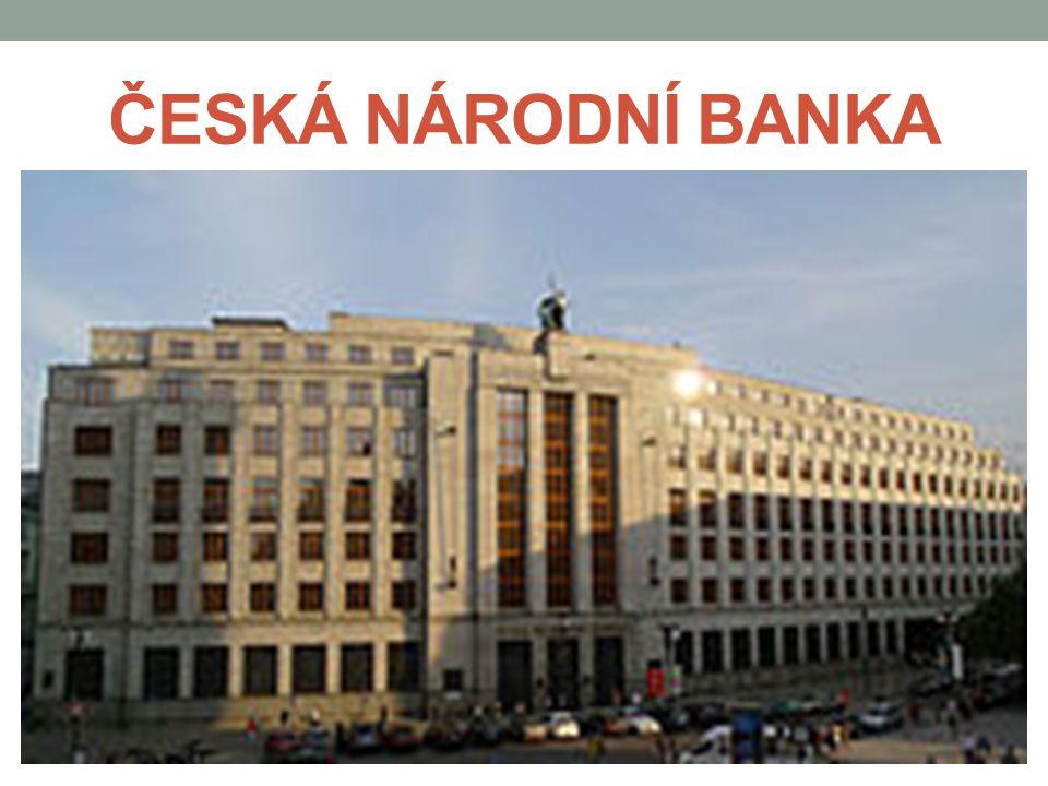 BANKA/SPOŘITELNA instituce, která poskytuje finanční služby – vyvíjí činnost za účelem dosažení zisku její základní činností je shromažďování dočasně volných peněžních prostředků, které formou úvěru dává k dispozici a nastavováním úroku znehodnocuje - tímto způsobem umožňuje pohyb peněz v ekonomice v České republice potřebuje pro svoji činnost bankovní licenci a podléhá bankovnímu dozoru, který vykonává centrální banka 3 základní funkce: 1) depozitní – zákazníci vkládají depozitum do bank 2) úvěrová – úvěr je návratná forma poskytnutí peněžních prostředků za úrok 3) funkce zprostředkovatele bezhotovostních plateb - osoba, která má u banky otevřen běžný účet, může dávat příkazy k převodu peněžních prostředků nebo platit šekem či platební kartou
