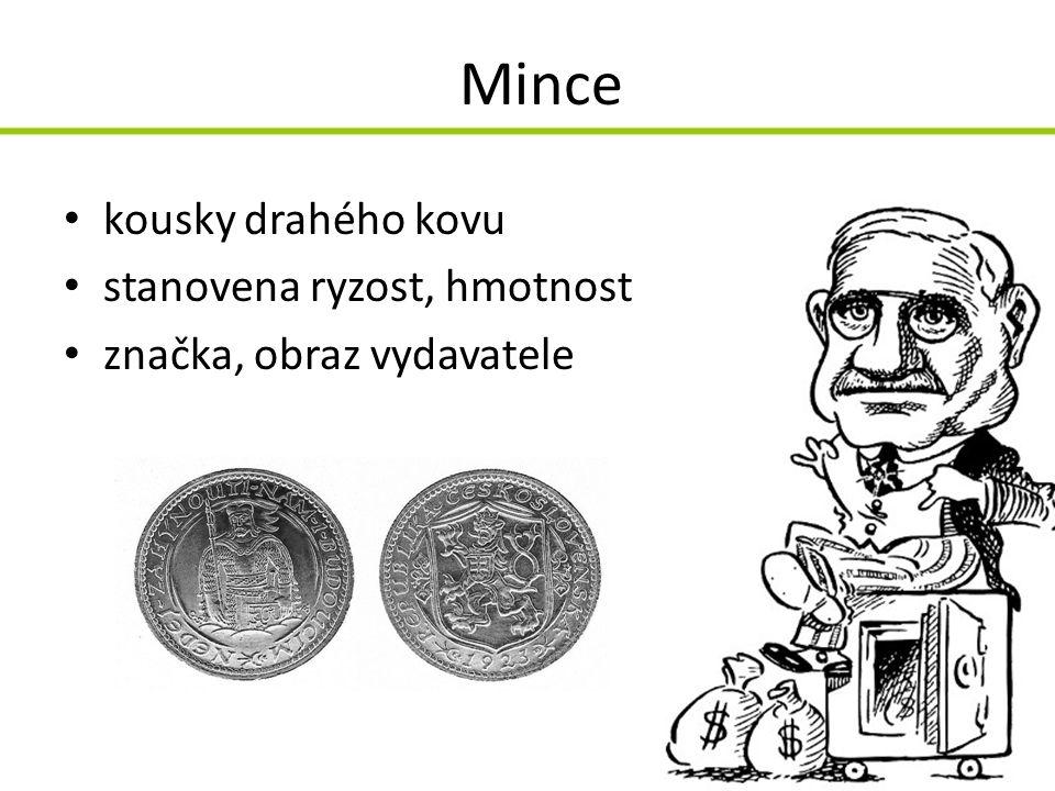 Mince kousky drahého kovu stanovena ryzost, hmotnost značka, obraz vydavatele
