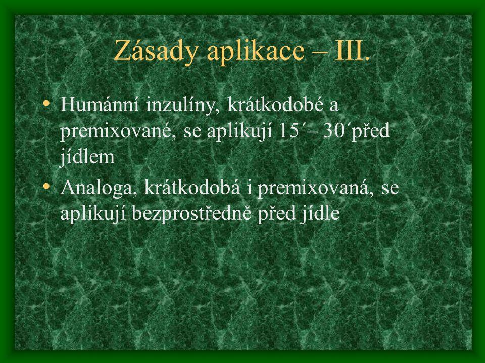 Zásady aplikace – III.