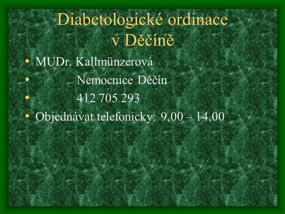 Diabetologické ordinace v Děčíně MUDr.