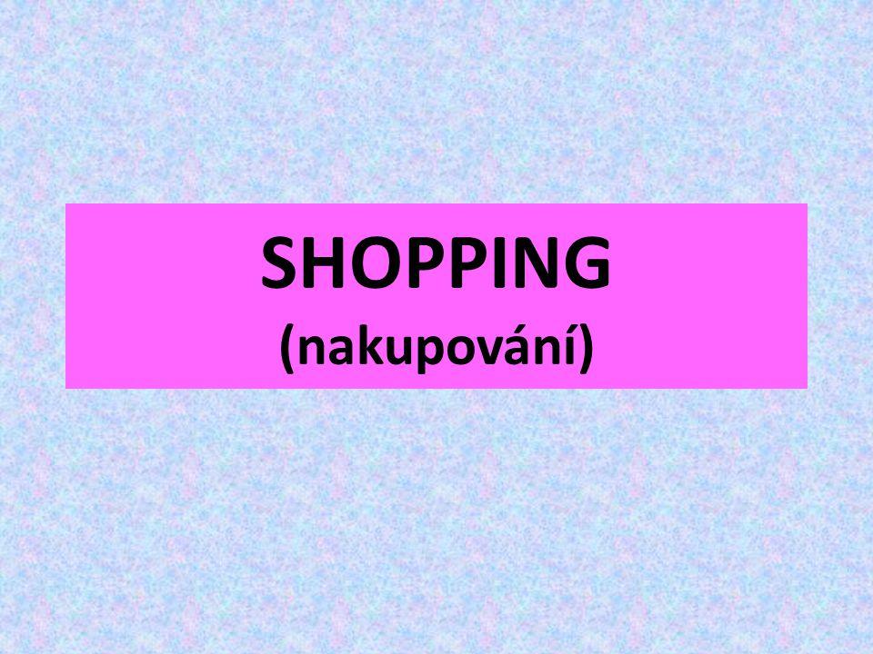 SHOPPING (nakupování)
