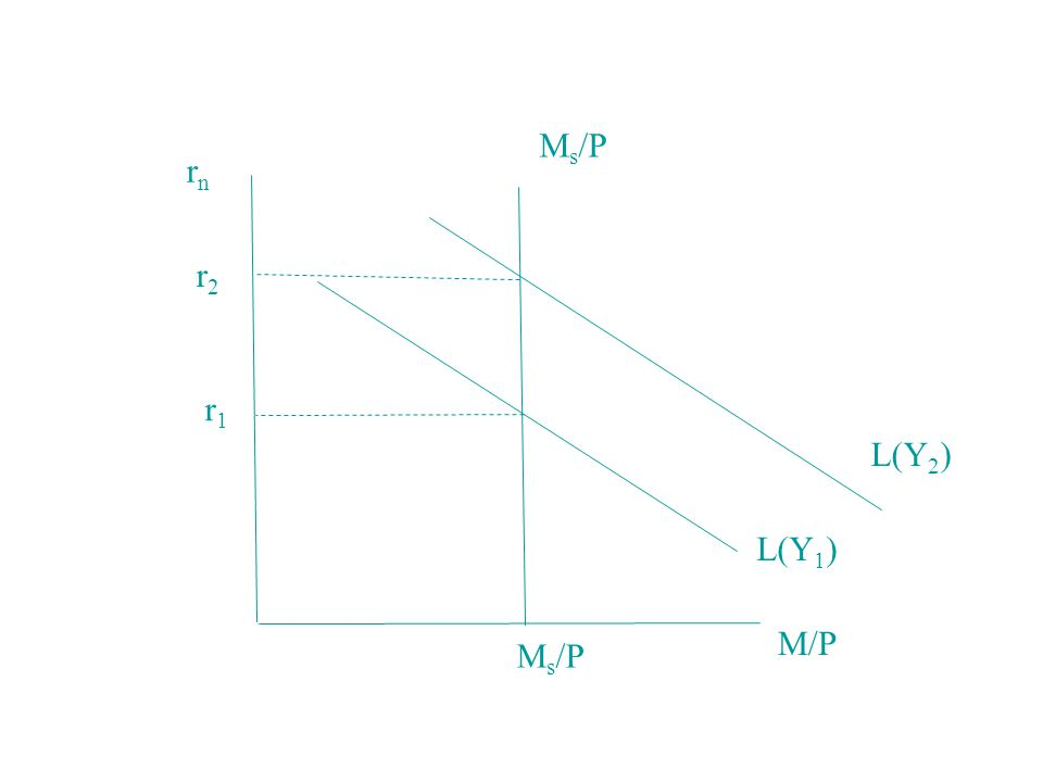 rnrn M s /P L(Y 1 ) L(Y 2 ) M/P r2r2 r1r1 M s /P