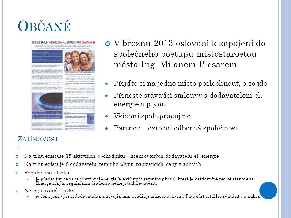 O BČANÉ V březnu 2013 osloveni k zapojení do společného postupu místostarostou města Ing. Milanem Plesarem Přijďte si na jedno místo poslechnout, o co