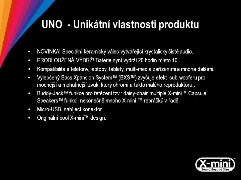 UNO - Unikátní vlastnosti produktu NOVINKA.