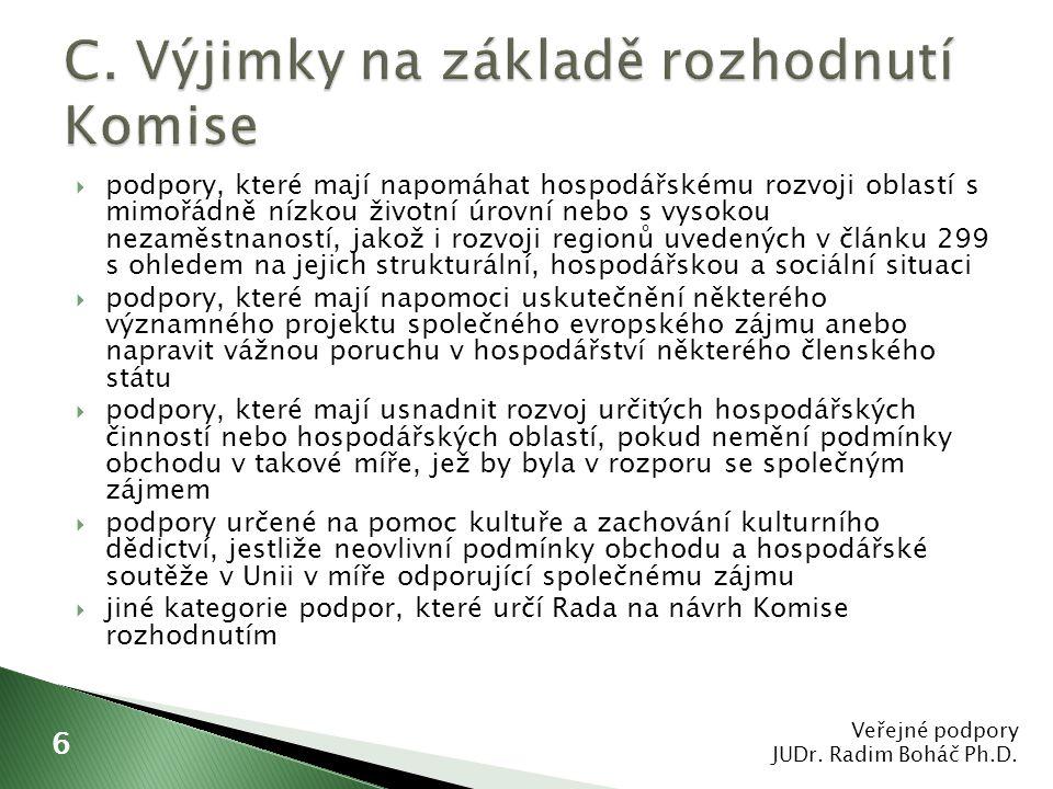  nařízení Komise (ES) č.1998/2006 ze dne 15.