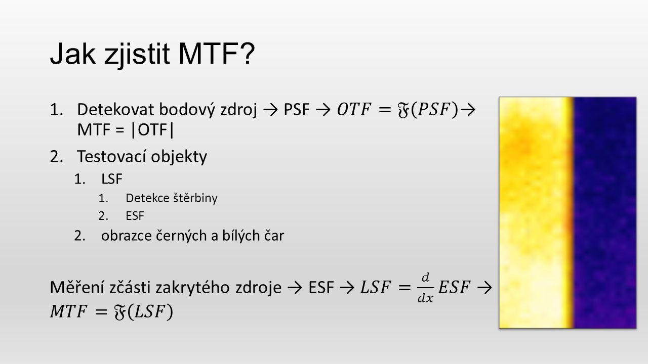 Jak zjistit MTF