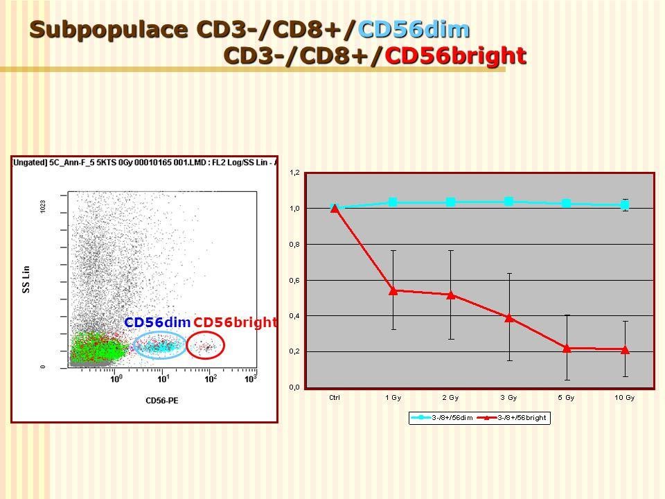 Subpopulace CD3-/CD8+/CD56dim CD3-/CD8+/CD56bright CD56dimCD56bright