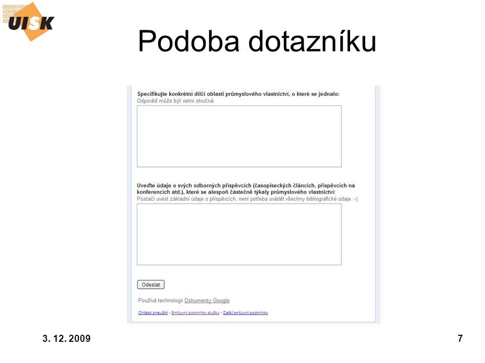 3. 12. 200928 Patentové rešerše