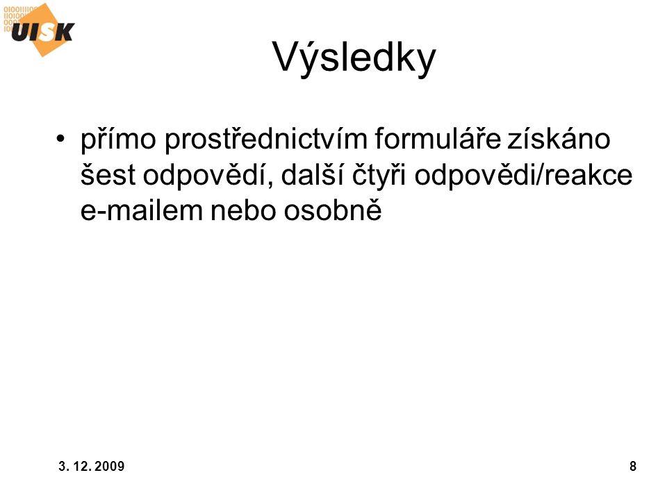 3.12. 20099 Výsledky PhDr.