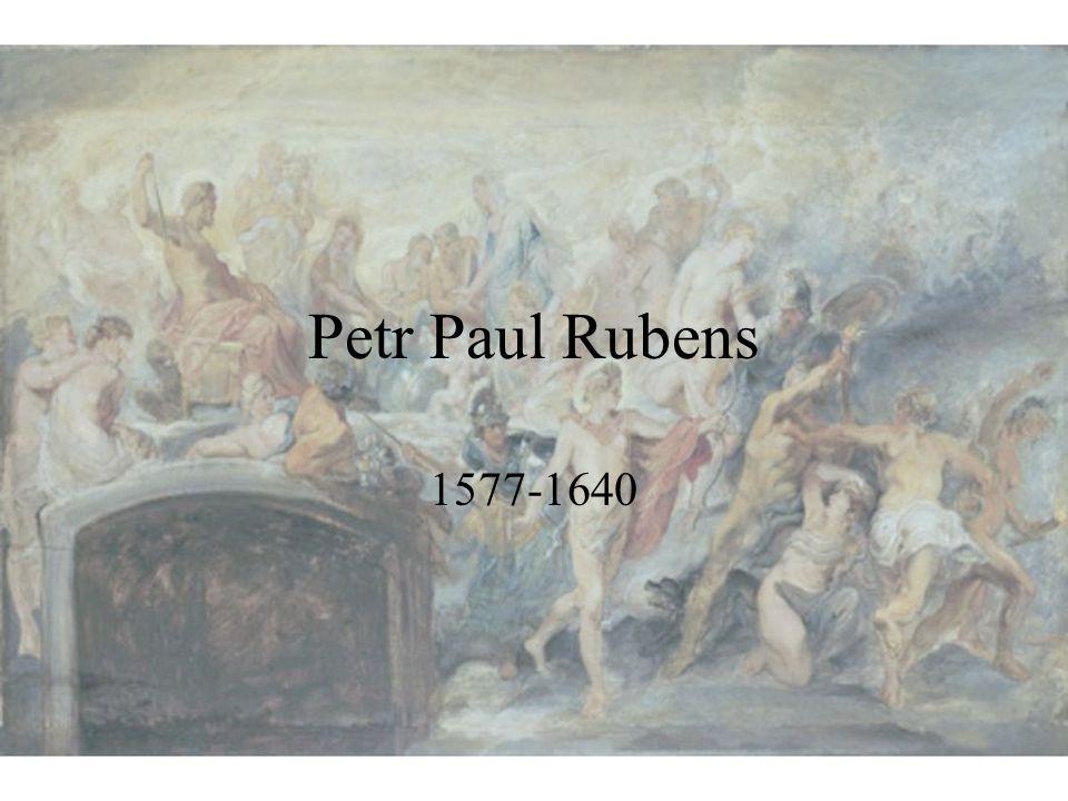 Významná data ze života Petra Paula Rubense Vlivy Vyučen u antverpských malířů, ovlivněn pobytem v Itálii Postavení Dvorní malíř, rádce i diplomat místodržitelky Isabely; výjimečně vzdělán 2 manželství Isabela Brandtová; Felena Fourmentová Dílo Mytologické a náboženské kompozice; portréty; později také krajiny; společně s některými malíři vytvořil obrazy, které kombinují žánrový či náboženský výjev a zátiší