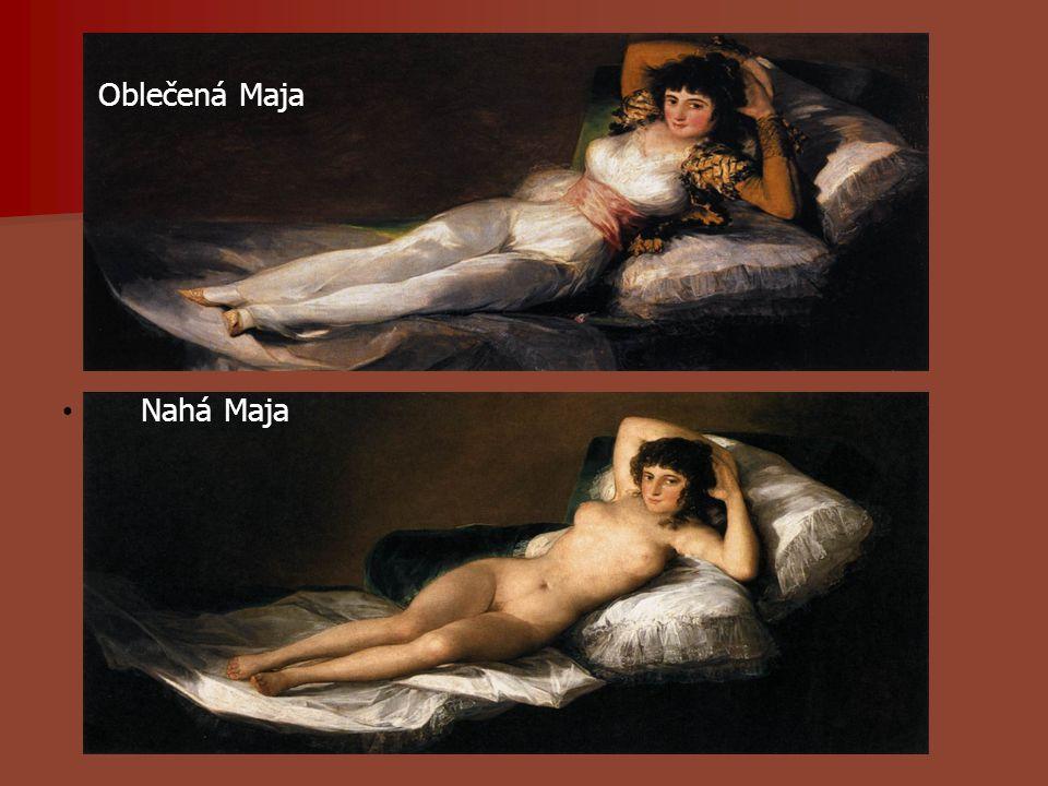 Oblečená Maja Nahá Maja