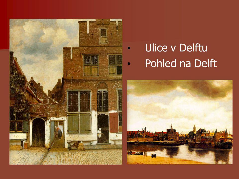 Ulice v Delftu Pohled na Delft