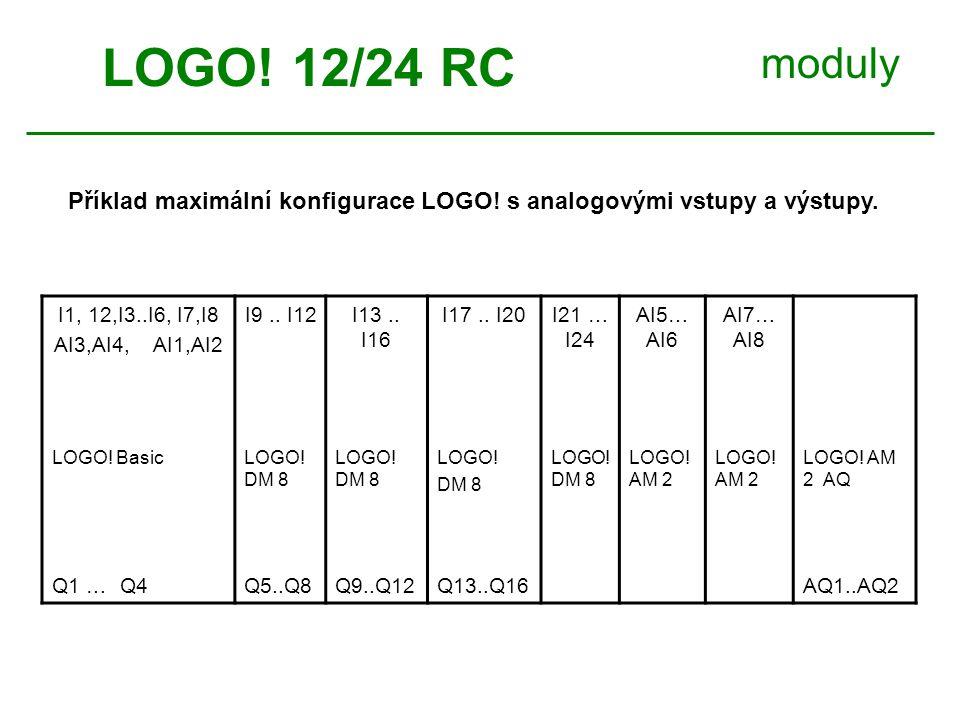 moduly I1, 12,I3..I6, I7,I8 AI3,AI4, AI1,AI2 I9.. I12I13..