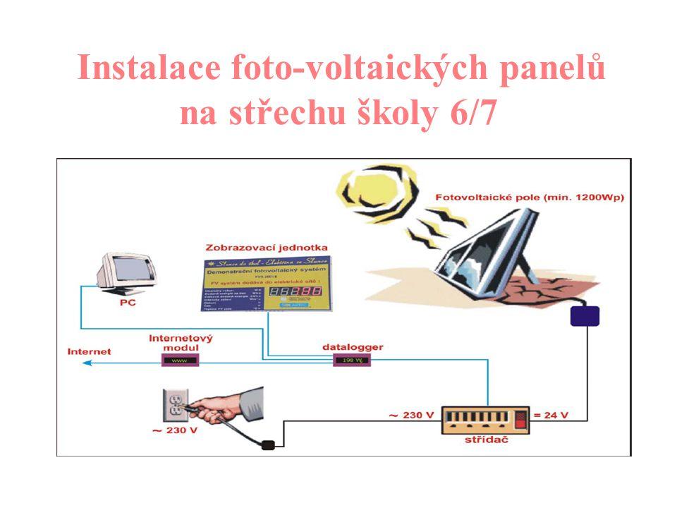 Instalace foto-voltaických panelů na střechu školy 5/7 Co je foto – voltaický panel.