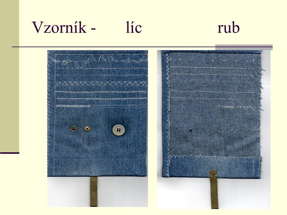 Vzorník - líc rub