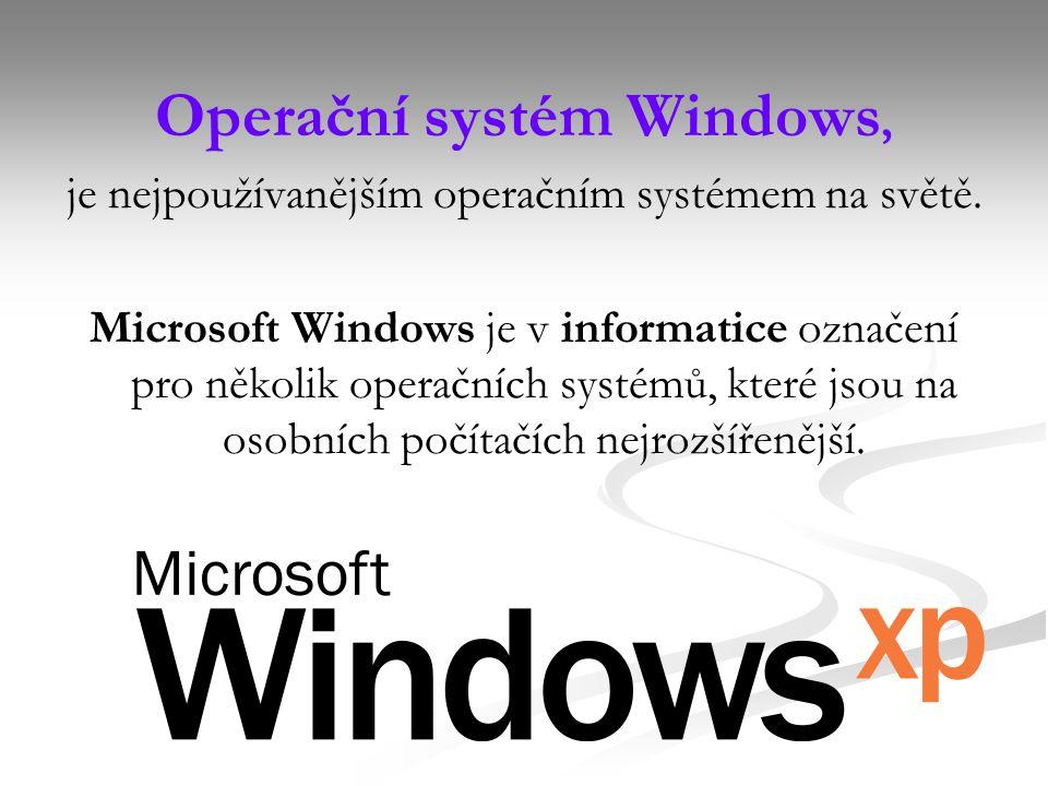 Operační systém Windows, je nejpoužívanějším operačním systémem na světě.