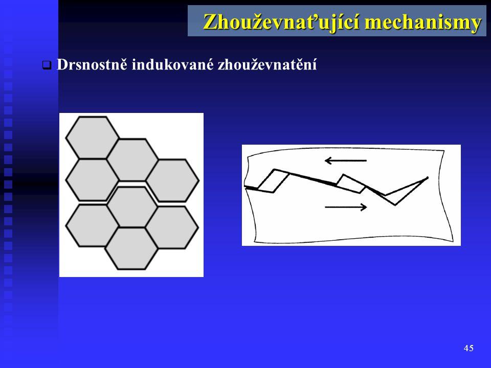 45  Drsnostně indukované zhouževnatění Zhouževnaťující mechanismy