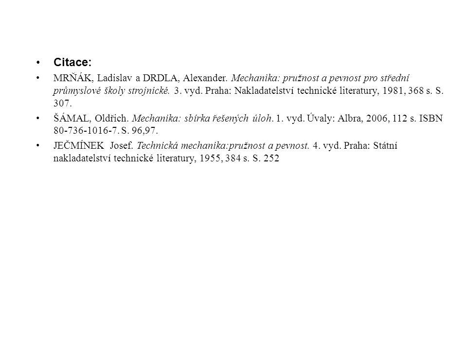 Citace: MRŇÁK, Ladislav a DRDLA, Alexander.
