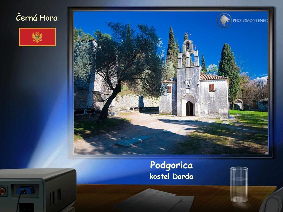 Černá Hora Podgorica katedrála Vzkříšení