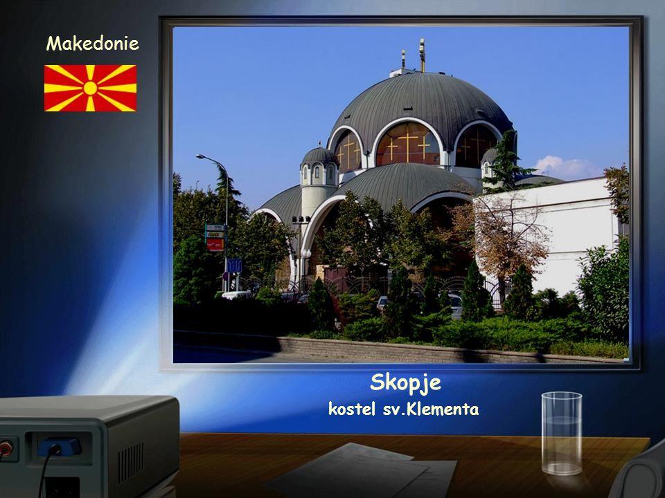 Skopje Makedonie panorama