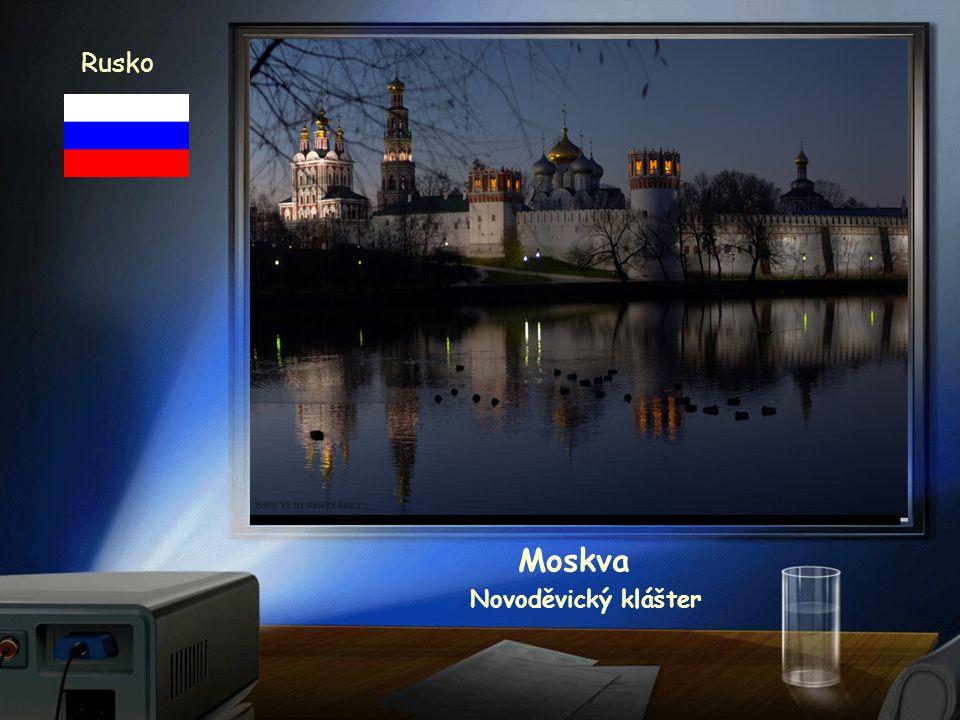 Rusko Moskva chrám Vasila Blaženého