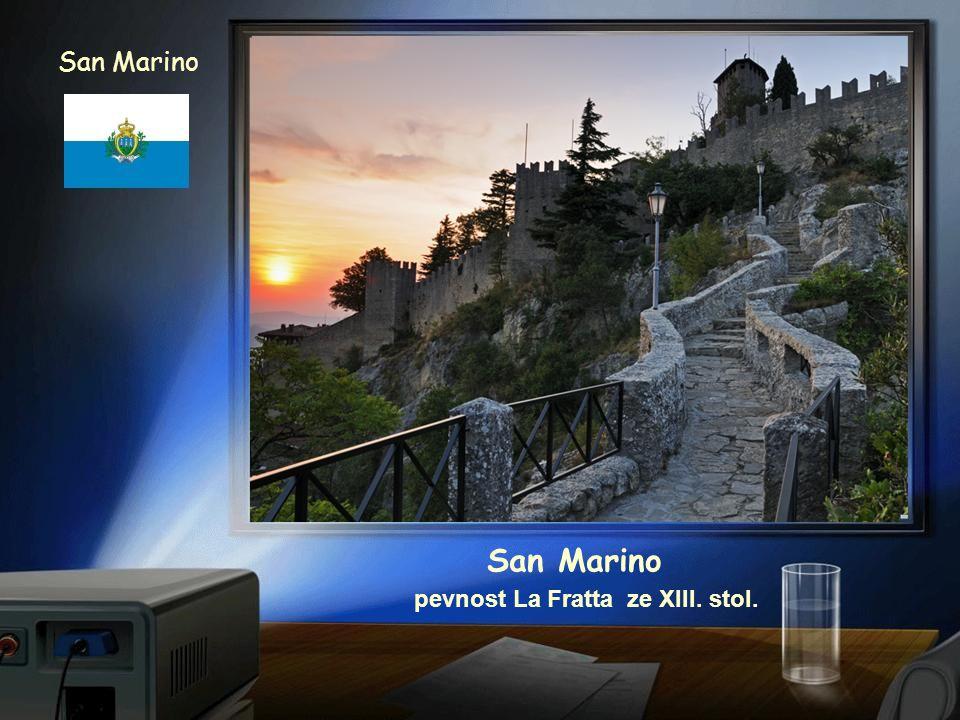 San Marino pevnost La Rocca z XI. století