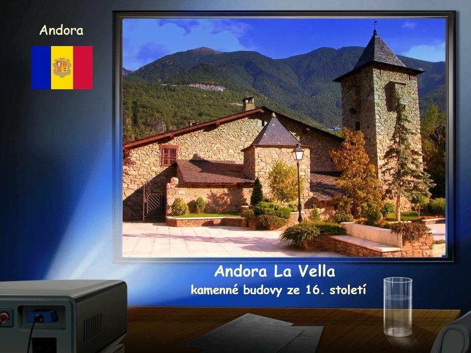 Andora Andora La Vella kamenné budovy ze 16. století